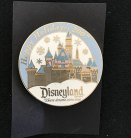 Disney DLR - Cast 2007 Happy Holidays Sleeping Beauty Castle Pin