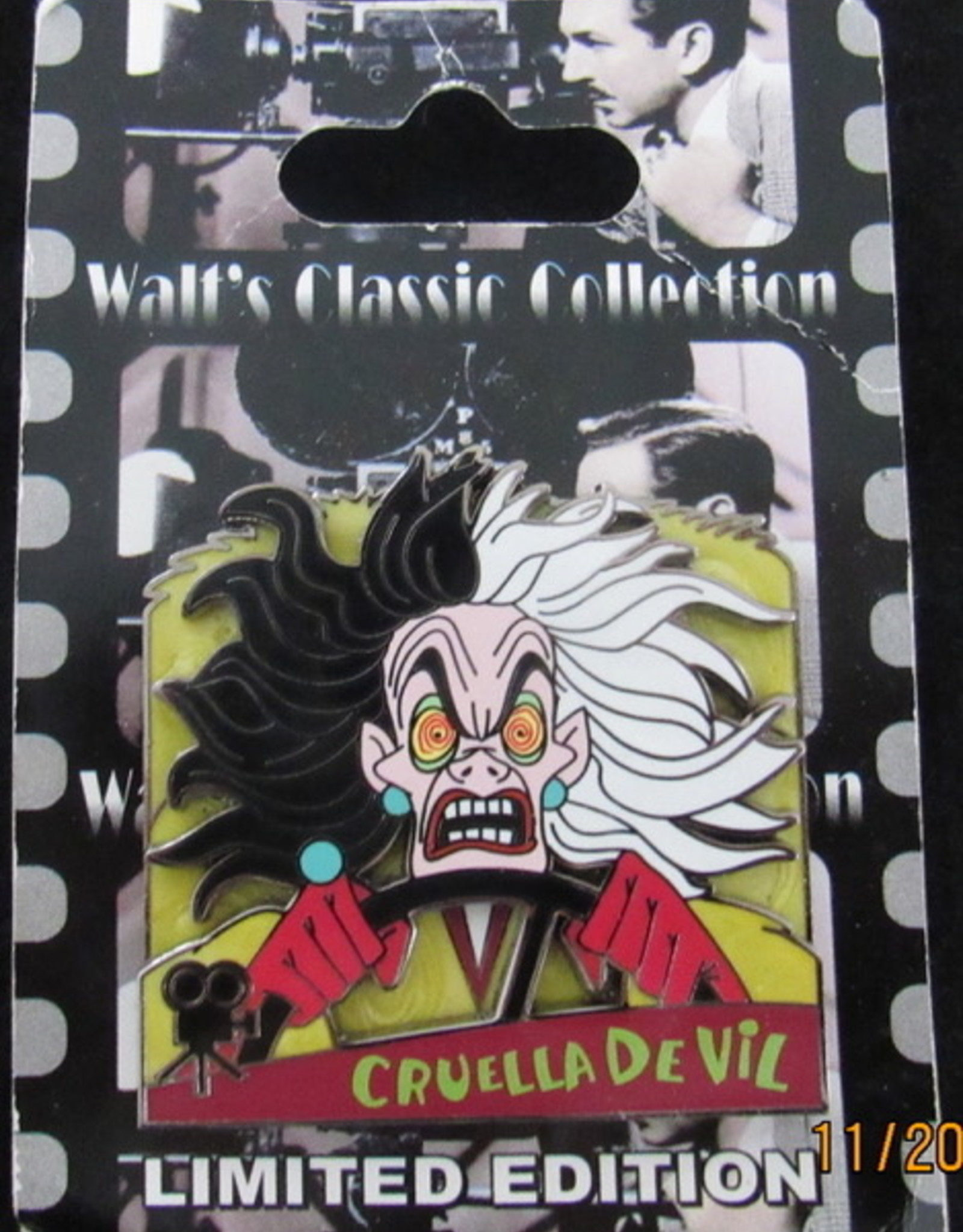 Walt's classic collection 101 Ddalmations Cruella de Vil LE DISNEY PIN 73763