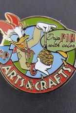 Disney Pin DLR Camp Pin-e-ha-ha Merit Badge Arts & Crafts Daisy Duck Event