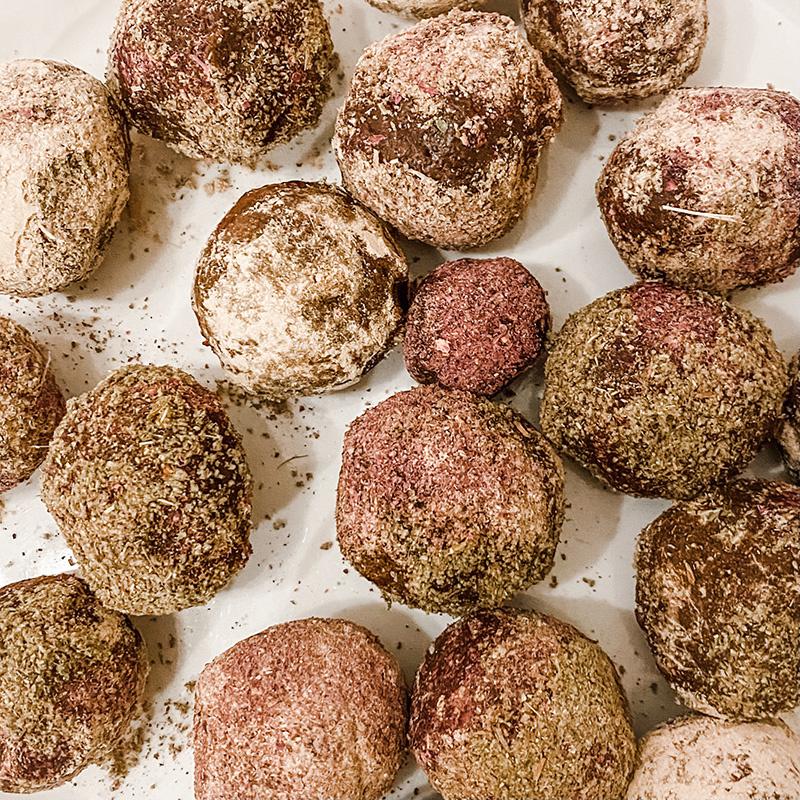 herbal chocolate truffle