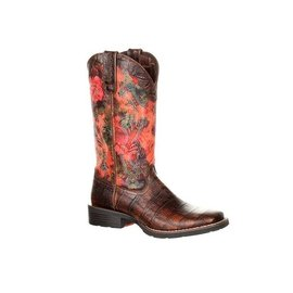 DURANGO DURANGO MUSTANG WOMENS FAUX EXOTIC WESTERN PULL-ON BOOT
