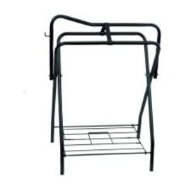 WESTERN RAWHIDE METAL SADDLE STAND - BLACK