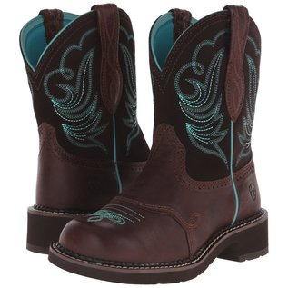 ARIAT ARIAT WOMENS FATBABY HERITAGE DAPPER WESTERN BOOTS IN ROYAL CHOCOLATE WITH FUDGE UPPER