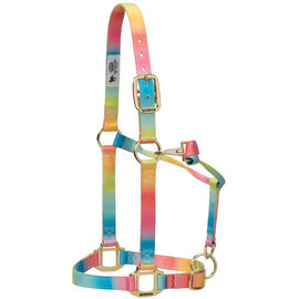 WEAVER WEAVER POLYESTER ADJUSTABLE RAINBOW HALTER