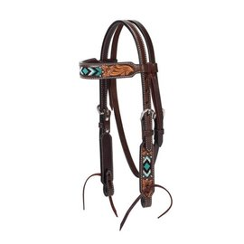 WEAVER WEAVER TURQUOISE BEADED PONY HEADSTALL