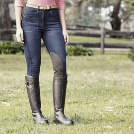 DUBLIN DUBLIN SHONA KNEE PATCH DENIM BREECHES