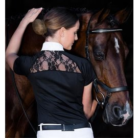 HORSEWARE IRELAND HORSEWARE SARA COMPETITION SHIRT BLACK LADIES SHORT SLEEVE