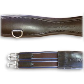 STUBBEN STUBBEN LEATHER OVERLAY DOUBLE ELASTIC GIRTH