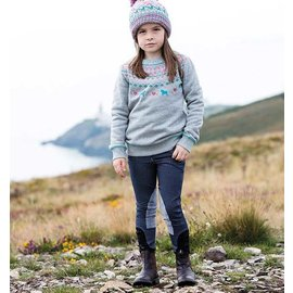 HORSEWARE IRELAND HORSEWARE KIDS KNITTED DENIM BREECH