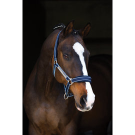 HORSEWARE IRELAND HORSEWARE RAMBO GRAND PRIX NYLON ADJUSTABLE FLEECE PADDED HALTER