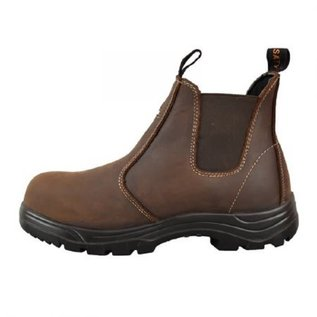 TIGER SAFETY TIGER SAFETY MENS LIGHTWEIGHT CSA LEATHER WORK  BOOTS