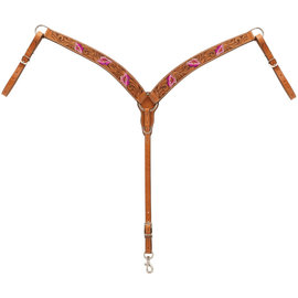 WEAVER WEAVER PINK FLORAL BREAST COLLAR HORSE