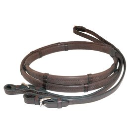 NUNN FINER NUNN FINER RUBBER-LINED REINS WITH HAND STOPS - 3/4""