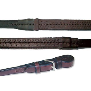 """NUNN FINER NUNN FINER RUBBER-LINED REINS WITH HAND STOPS - 3/4"""""""