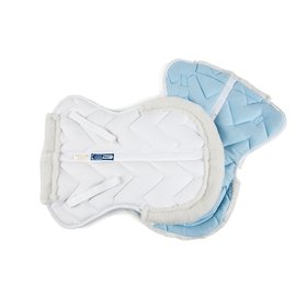 LETTIA LETTIA COOLMAX HALF PAD WITH FLEECE TRIM