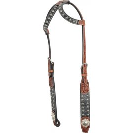 COUNTRY LEGEND COUNTRY LEGEND ELEPHANT CARVING WITH SUNSPOTS DBL EAR HEADSTALL