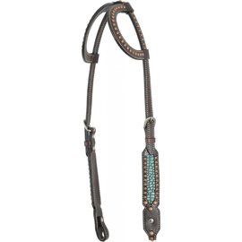 COUNTRY LEGEND COUNTRY LEGEND TURQUOISE GATOR DBL EAR HEADSTALL