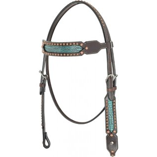 COUNTRY LEGEND COUNTRY LEGEND TURQUOISE GATOR BROWAND HEADSTALL