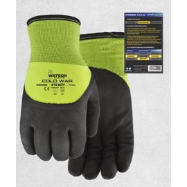 WATSON GLOVES WATSON STEALTH COLD WAR GRIP PALM WINTER LINED WORK GLOVES