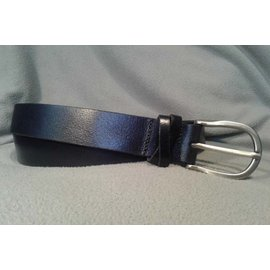 BRIAN HAMILTON LADIES BELT PLAIN LEATHER WITH DOUBLE LOOPS