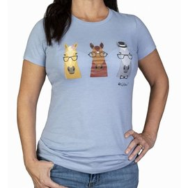 LETTIA LETTIA WOMENS HIP HORSES COTTON TEE SHIRT