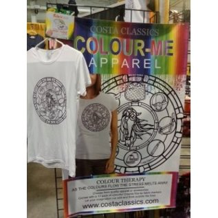 COSTA CLASSICS COLOUR-ME EQUESTRIAN SHORT SLEEVE BAMBOO TEE WITH MARKERS *CLR*