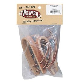 WEAVER WATER LEATHER TIE ENDS WITH BURGUNDY LACES -  5/8""