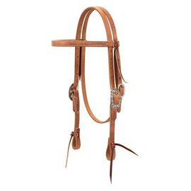 WEAVER WEAVER PONY HEADSTALL STRAIGHT BROWBAND - RUSSET