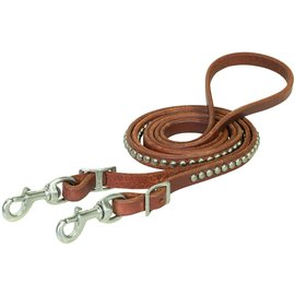 """WEAVER WEAVER LEATHER SPOTTED ROPER REINS -  5/8""""X8'"""