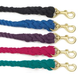 EQUI-ESSENTIALS 3-PLY BRAIDED COTTON LEAD WITH SOLID BRASS SNAP