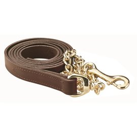 PERRI'S LEATHER PERRI'S LEATHER LEAD WITH BRASS CHAIN