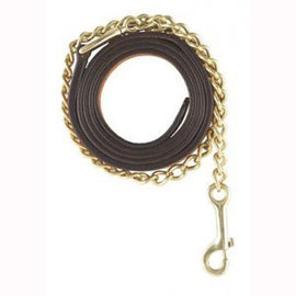 CANADIAN SADDLERY TUSCANY LEATHER LEAD WITH CHAIN