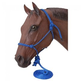 TOUGH-1 JT TOUGH-1 ROPE HALTER WITH LEAD (ASSORTED COLOURS)