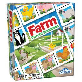 OUTSET MEDIA PICTURE DOMINOES - FARM