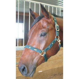 GER-RYAN HORSE PRINT OVERLAY HALTER W ADJUSTABLE NOSE