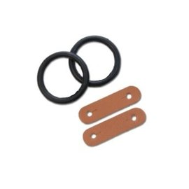 PEACOCK SAFETY STIRRUP REPLACEMENT ELASTICS WITH LEATHER TAB