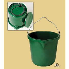 FARM INNOVATORS INC. HEATED BUCKET PLASTIC FLAT BACK -  5gal-GREEN