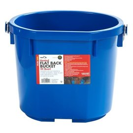 MILLER MANUFACTURING HEATED BUCKET PLASTIC FLAT BACK - 20qt-BLUE