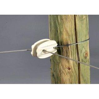 CORNER INSULATORS FOR ELECTRIC FENCING PLASTIC KNOB - PKG 25