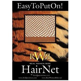 REAL WOMEN RIDE RWR NO KNOT HAIR NET