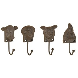 ESSCHERT DESIGN ESSCHERT CAST IRON FARM ANIMAL HEAD HOOK