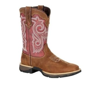 DURANGO LADY REBEL BY DURANGO RED SQUARE TOE WESTERN BOOT