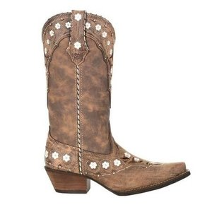 DURANGO CRUSH BY DURANGO  WOMENS FLORAL SNIP TOE WESTERN BOOT