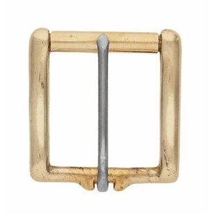WEAVER SOLID BRASS BUCKLE WITH STAINLESS STEEL TONGUE