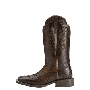 ARIAT ARIAT WOMENS CASSIDY MAHOGANY/WEATHERED BUCKSKIN BOOT - 6.5 *CLR*