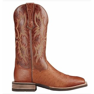 ARIAT ARIAT TOMBSTONE BRANDY SMOOTH QUILL OSTRICH