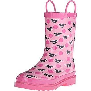 BLAZIN ROXX JAYLEE KIDS PINK HORSES RAIN BOOT