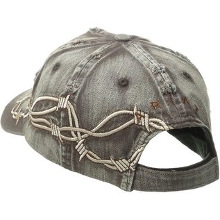 ARIAT ARIAT BALL CAP - DISTRESSED BARBED WIRE
