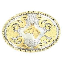 NOCONA NOCONA BELT BUCKLE - HORSE HEAD OVAL