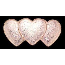 CRUMRINE CRUMRINE BELT BUCKLE - TRIPLE HEARTS